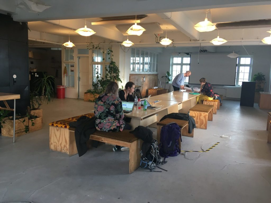 Working at the co-working space
