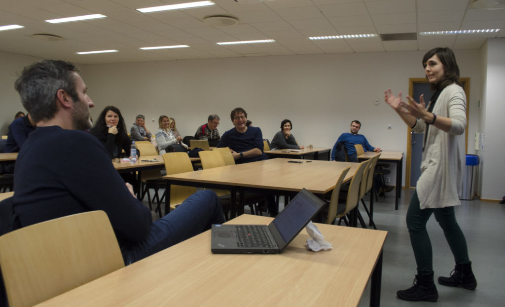 A lecture was held by Engage at Nord university.