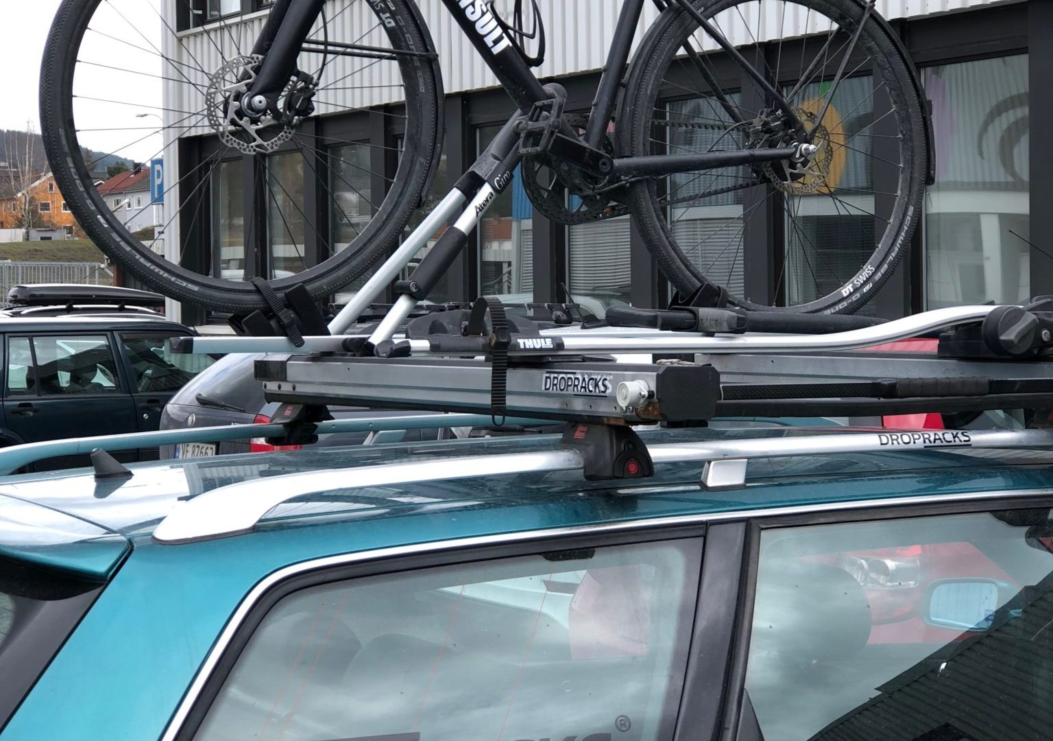 Bike on top of the car
