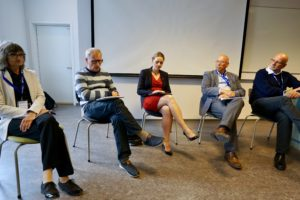 The participants engaged in a panel discussion. (Photo: Christoffer Jellum)