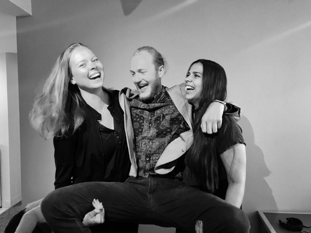 The team behind WAID. Kristi, Jonas and me (Karoline)